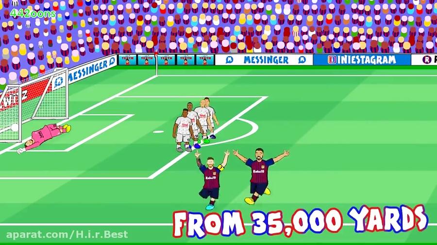 لیورپول ۰ بارسلونا ۳ چمپیونز لیگ کارتونی
