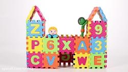 برنامه کودک السا وانا  ساخت قلعه با حروف الفبا