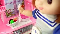 عروسک بازی دخترانه و کارهای آشپزخانه