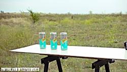 آزمایش عجیب غریب - تیر کمان در برابر هندوانه -  SLINGSHOT VS WATERMELON