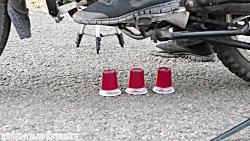آزمایش عجیب غریب - موتورسیکلت در برابر اسلایم - MOTORCYCLE VS TOYS SLIME
