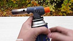 آزمایش عجیب غریب - مینی گلوله فلزی داغ و نوتِلا - Mini METAL BALL VS NUTELLA