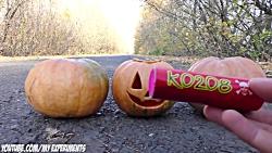آزمایش عجیب غریب - ترقه در برابر فانوس هالووین - FIRECRACER VS HALLOWEEN P