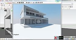 مراحل اولیه طراحی ویلا - sketchup