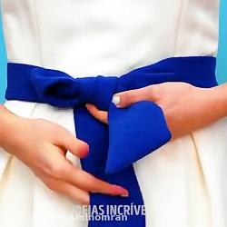 ترفند های فوق العاده برای بستن گره های تزئینی برای بند کفش و بند لباس