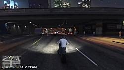 گلیچ تیون(اسپرت )کردن ماشین پلیس در بازی gta v