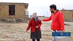 سیل در روستای بهانگر شهرستان داورزن