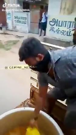 ضدعفونی معابر در گوشه ای از هند با ادرار گاو برای در امان ماندن از کرونا