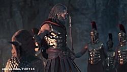 جنگ اسپارت با کروش جنگیدم assassin creed odssey