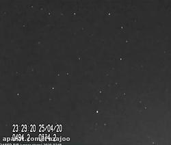 فیلمی از عبور بدنه موشک ماهواره بر قاصد