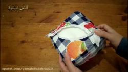 آموزش دوختن سرویس آشپزخانه(جا دستمال کاغذی)