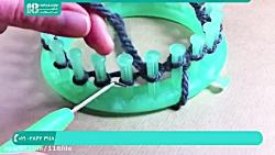 آموزش بافتنی   بافت دستکش و جوراب ( دستکش بدون انگشت رنگی )