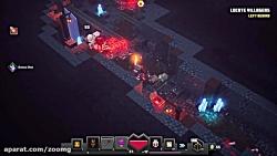 ویدیو گیم پلی Minecraft Dungeons با محوریت باس فایت ها - زومجی