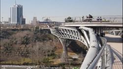 منظره زیبا از روی پل طب...