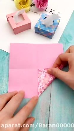 ساخت دستمال کاغذی مینیاتوری