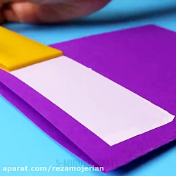 ایده های خلاقانه کاردستی با کاغذ های رنگی