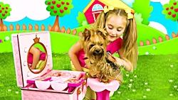 ماجراهای ساشا ، ساشا و مکس و بازی با حیوانات خانگی