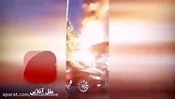 لحظه انفجار مهیب در منطقه تجریش تهران