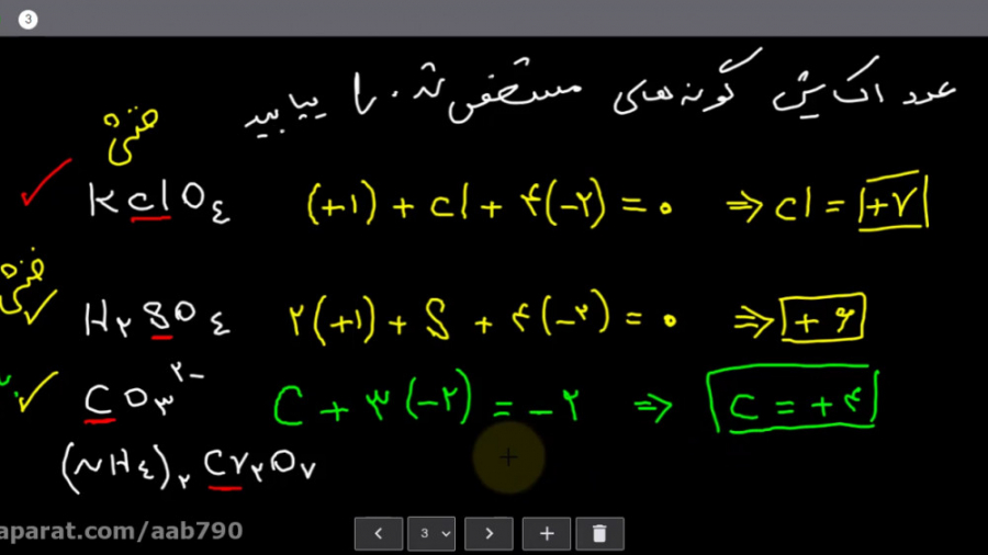 ویدیو آموزش تعیین عدد اکسایش شیمی دوازدهم