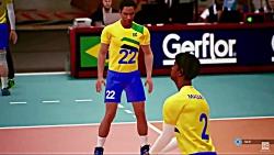 بازی والیبال برزیل آمر...
