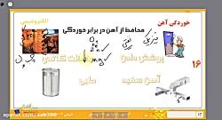 ویدیو آموزش خوردگی آهن و محافظت از آن شیمی دوازدهم