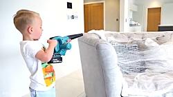 الکس و گبی :: گبی و الکس در حال تمیز کردن خانه ::  ماجراهای الکس و گبی جدید