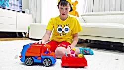داستان مکس و کتی با ماشین های اسباب بازی