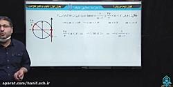 ویدیو آموزش تناوب و تابع تانژانت حسابان دوازدهم بخش 4