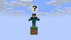 اسکای بلاک ولی یک بلاک _ minecraft sky block but one block