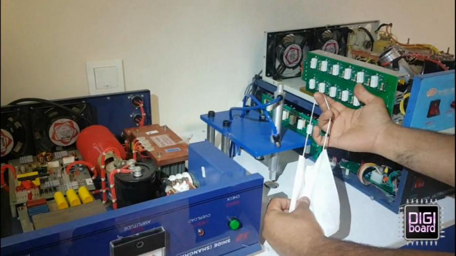 تعمیر دستگاه ژنراتور التراسونیک تولید ماسک