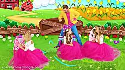 ماجراهای ساشا / ساشا و دوستانش در سالن زیبایی بازی می کنند