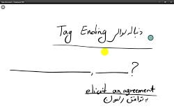 ویدیو آموزش Tag ending زبان انگلیسی دوازدهم بخش 1