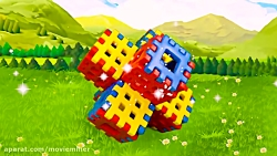 ساشا با بلوک های اسباب بازی رنگی بازی می کند :: ماجراهای ساشا و مکس جدید