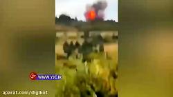 فیلمی از لحظه سقوط موشک مداری «آسترا» در آمریکا