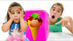 ناستیا و میا - استیسی و میا - بستنی سازی ناستیا - استیسی و ناستیا