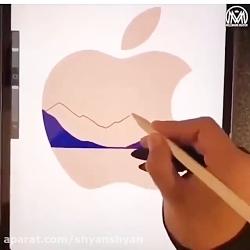 نقاشي مارك اپل با تبلت اپل