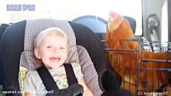 ببینید چجوری این بچه ها با مرغ ها دوست شدن :)