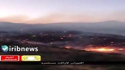 آتش سوزی در جنگل های کوهستانی جنوب طائف عربستان