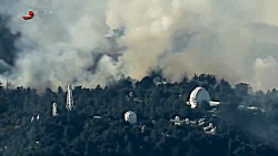 آتشسوزی در بزرگترین تاسیسات تلویزیونی کالیفرنیا - برجهای مخابراتی MT. Wilson