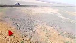 ویدئویی از هواپیمای سقوط کرده در اطراف فرودگاه آزادی نظرآباد