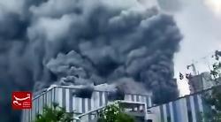 آتش سوزی گسترده در ازمایشگاه شرکت بزرگ هواوی در شهر دونگوان در چین