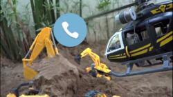 ماشین بازی-قسمت152-خاک برداری لودر لگو-Excavator Car Toy Rescue Play