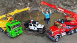 ماشین بازی - اسباب بازی کودکان - ماشین های پلیس ، بیل مکانیکی ، جرثقیل کامیون