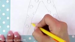 آموزش نقاشی دختر کفشدوزکی و گربه سیاه