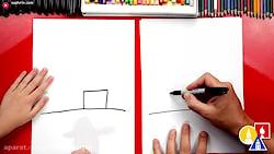 آموزش نقاشی به کودکان - انبار مزرعه با رنگ آمیزی