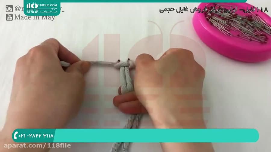 آموزش بافت کیف مکرومه   مکرومه بافی (بافت کیف دستی زنانه مکرومه)