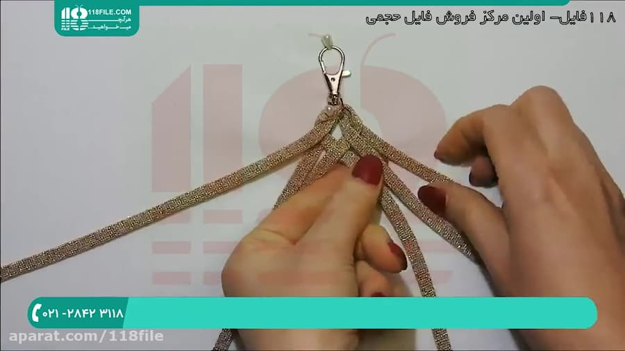 آموزش بافت کیف مکرومه   مکرومه بافی (بافت بند کیف مکرومه)