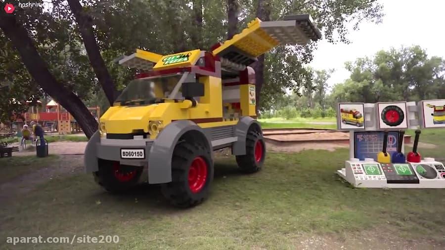 تصویر از ماشین لگو در زندگی واقعی :: ماشین بازی کودکانه :: اسباب بازی کودکان