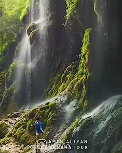 آبشار بهشت باران گلستان