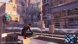 گیم پلی لباس از Into the Spider-Verse در بازی  Spider Man Miles Morales PS5
